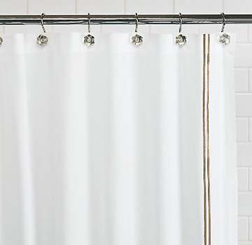 terry cloth shower curtain. I m looking for a shower curtain that goes with Benjamin Moore s Dusky Blue  paint we just put in the bathroom Ask Design Mom Shower Curtain