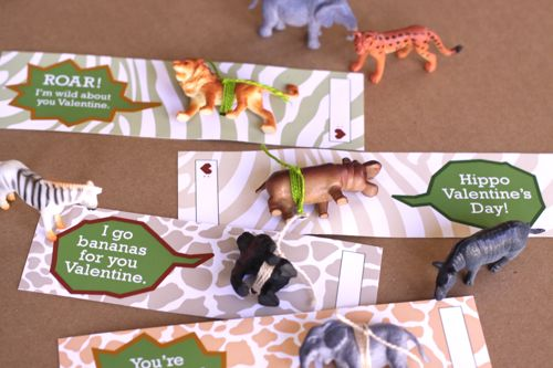 wild animal valentine DIY