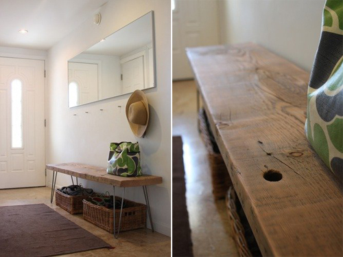 Diy reclaimed bench design mom she built it for 109 instead a bench like this would be great at a picnic table as well i might have to get my build on solutioingenieria Images