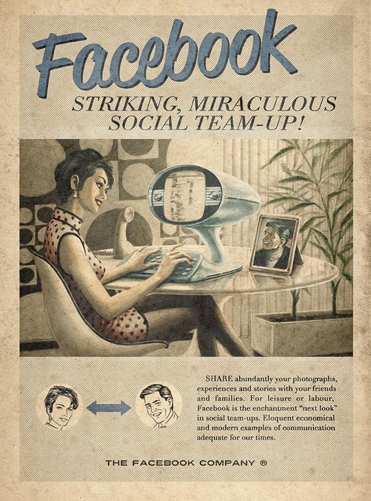 Vintage Internet Ads Design Mom