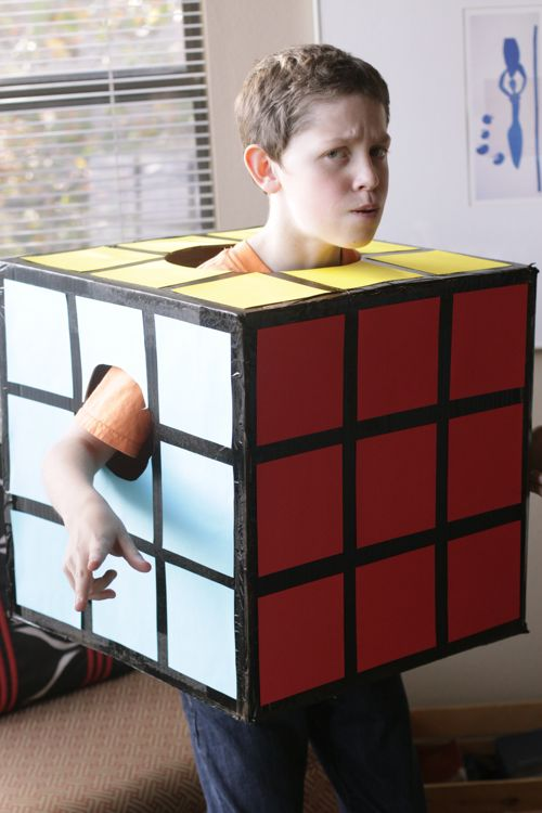 Homemade Rubiks Cube Halloween Costume DIY. Cheap and easy!
