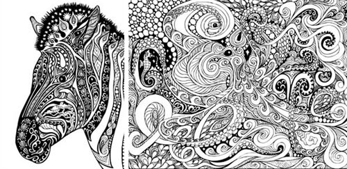 28 - Psychedelic Coloring Book