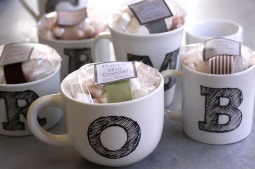 DIY: Monogram Mugs by Design Mom