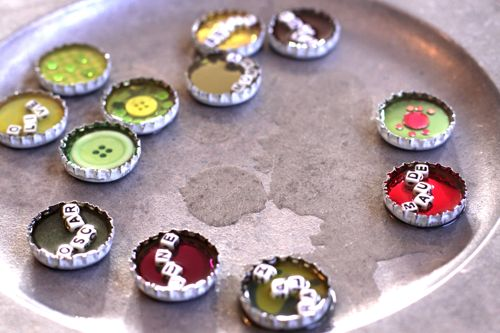 bottlecap magnet DIY