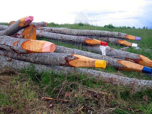 giant log colored pencils