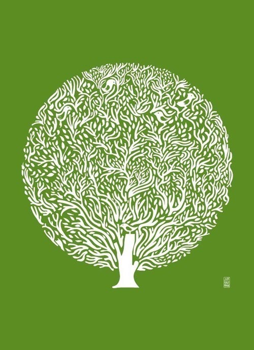 tree poster by judy kaufmann