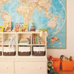 large wall map childs room