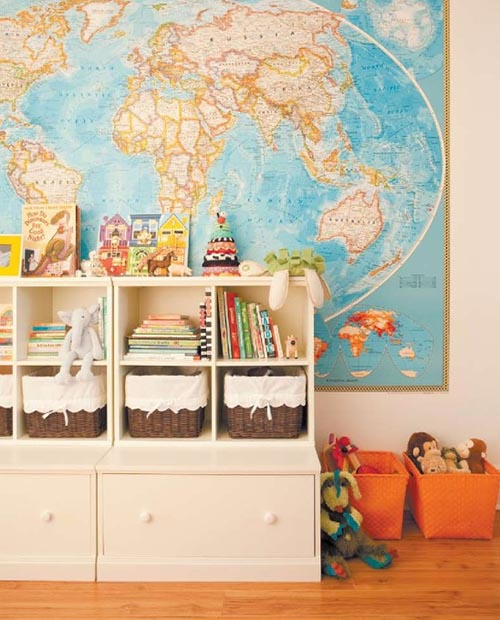 Vintage wall maps design mom large wall map childs room gumiabroncs Gallery
