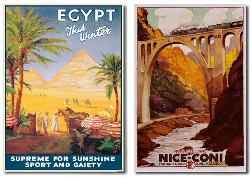 egypt nice travel poster vintage