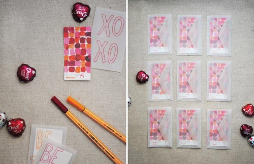 Color Theory Valentine Cards Mer Mag