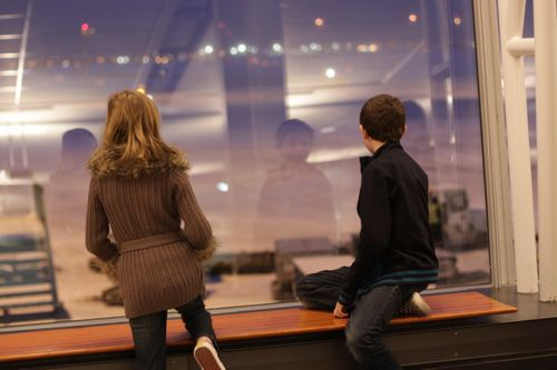 kids at montreal airport