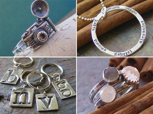 stamped custom jewelry Cinnamon Sticks