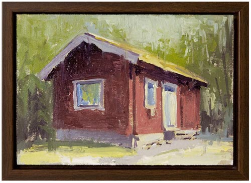 Red cabin painting Paul Ferney