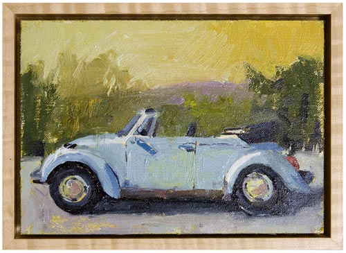 VW bug convertible painting Paul Ferney
