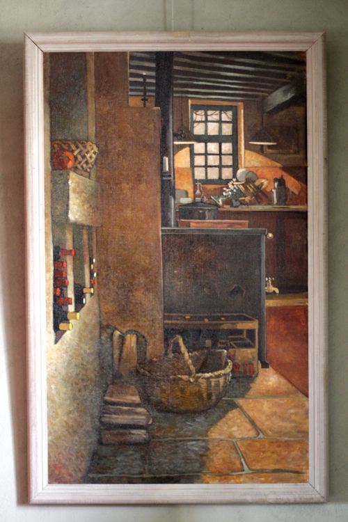 painting of kitchen Hugues Sineux