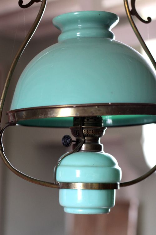 antique green milk glass light fixture