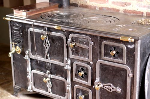 antique black stove