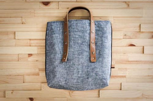 tote bag leather strap Fabric and Handle