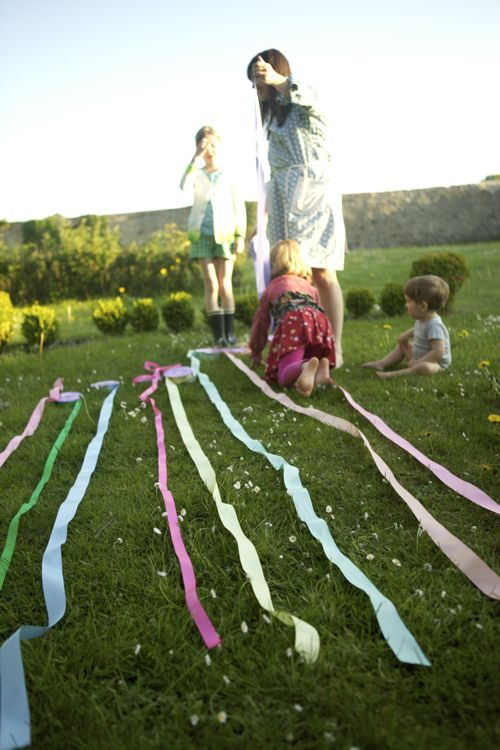 garden party ribbon decoration