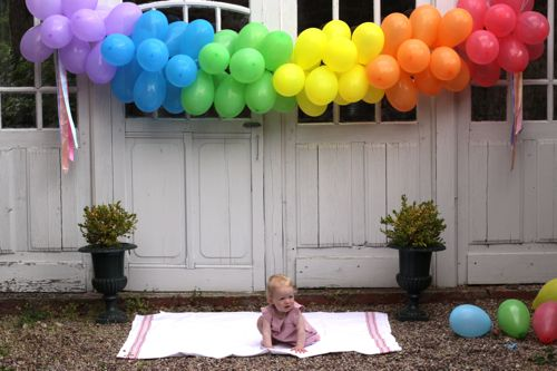 balloon banner DIY
