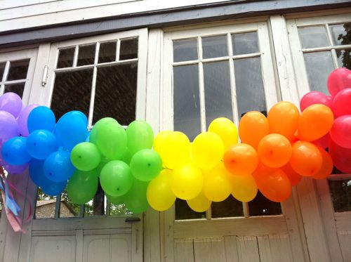 Cheap diy party decorations excellence at home for Balloon banner decoration