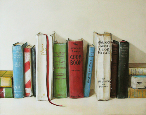 Cookbooks Painting Holly Farrell