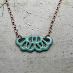 enameled necklace by efrat deutsch
