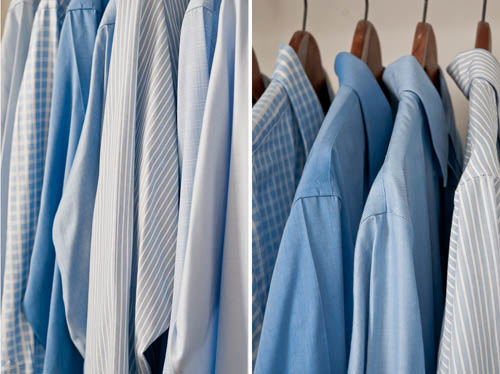 how to pack ironed shirts