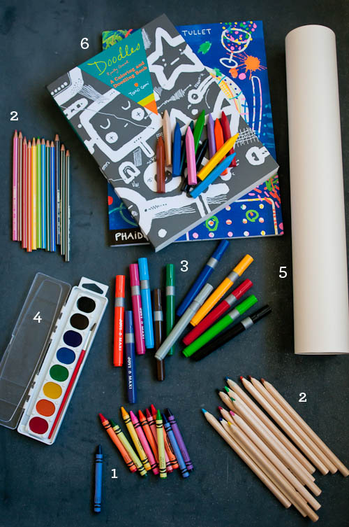 Living well 4 secrets to the ideal art supply cupboard for Materials for kids
