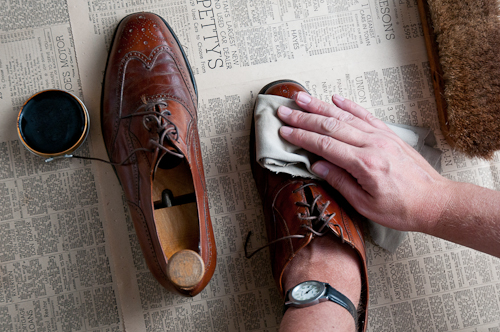 Getting Black Shoe Polish Out Of Clothes