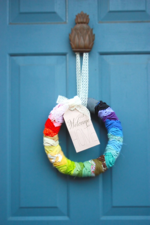 DIY French-Braided Welcome Wreath. via DesignMom.com