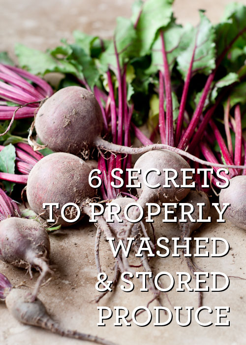 How to Properly Wash & Store Produce. Handy guide via DesignMom.com