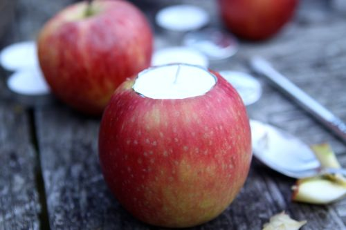 Apple Votive DIY
