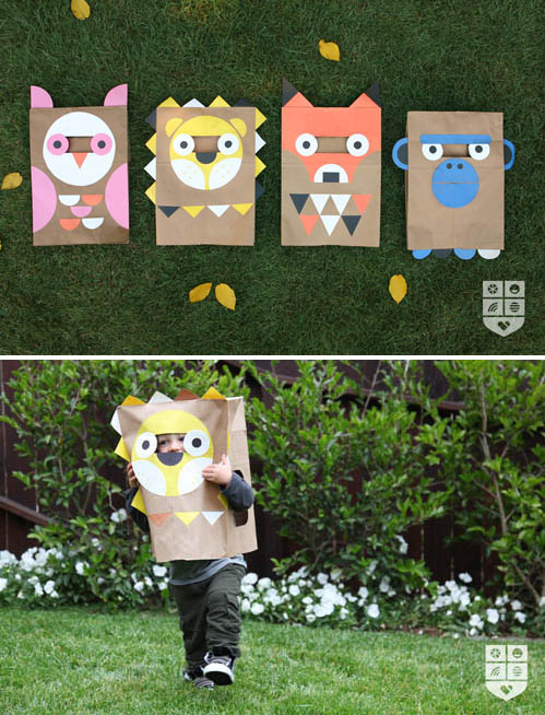 easy paper halloween bag costume