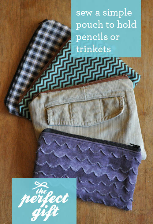 Super Easy Tutorial for a Zippered Pouch