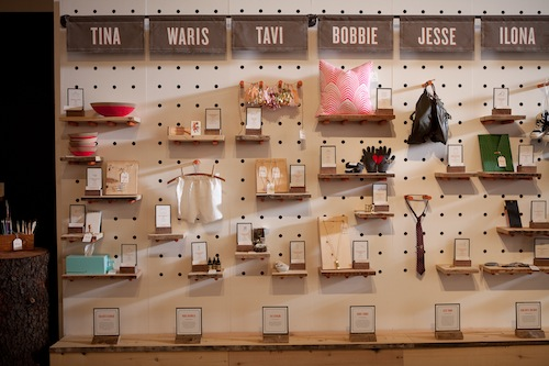 Curator Wall at the Etsy Pop up holiday shop
