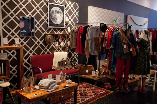 Vintage Clothing at the pop up Etsy shop in SoHo