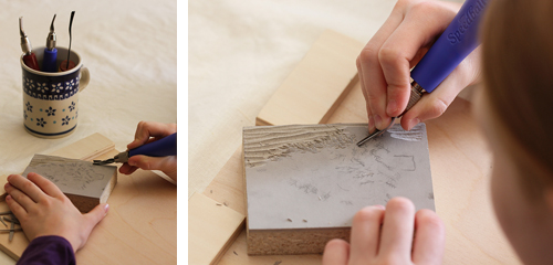 The perfect gift: block printed cards ⋆ design mom