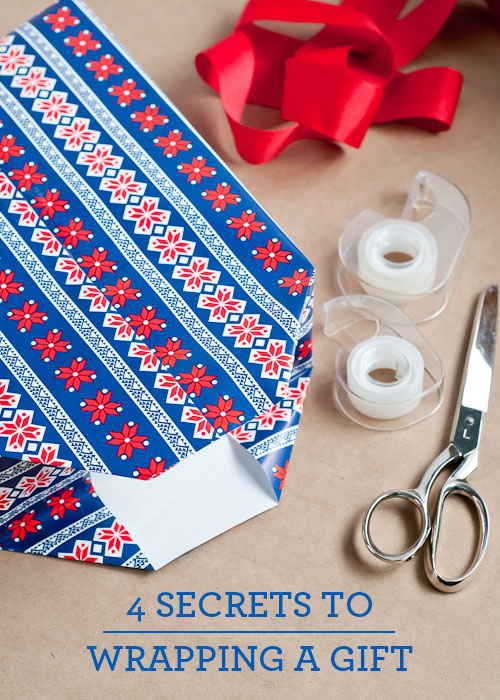 gift wrapping 101 - easy tutorial