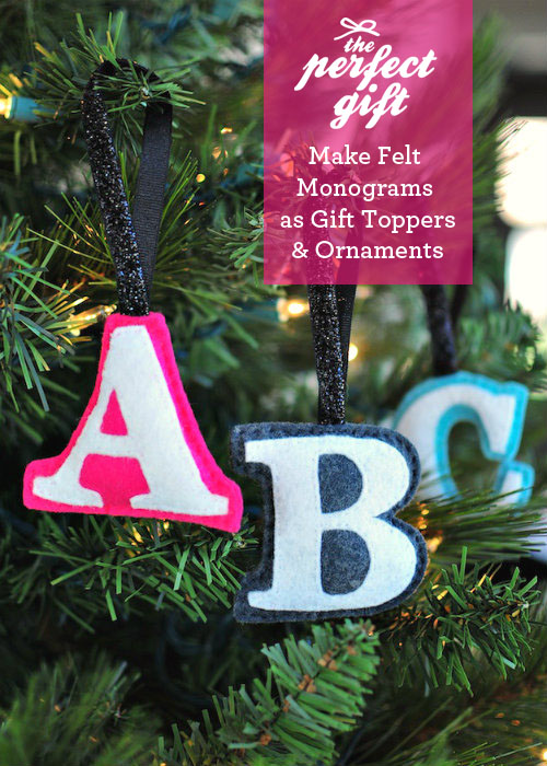 DIY monogram ornaments