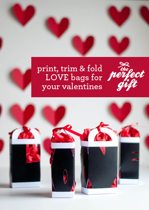 The Perfect Gift  LOVE Valentine Gift Bag ⋆ Design Mom a38d842d3
