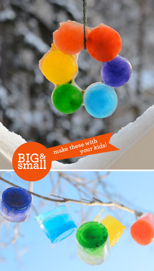 Big Small Diy Colored Ice Ornaments Design Mom