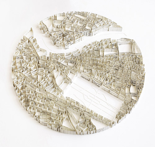 map sculptures of cities
