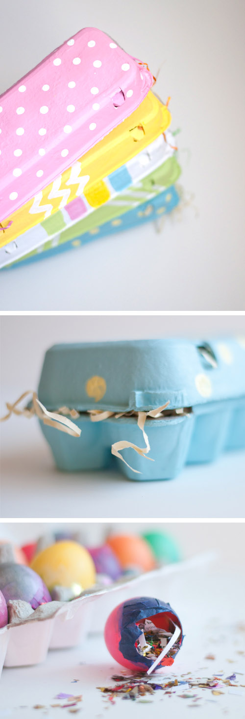 DIY Easy Painted Egg Cartons
