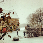 French Farmhouse in the Snow