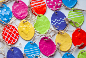how to make easter eggs out of salt dough