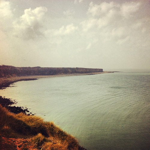 Normandy, France. Utah Beach from Pointe du Hoc, where the Army Rangers scaled the cliffs on D-Day.