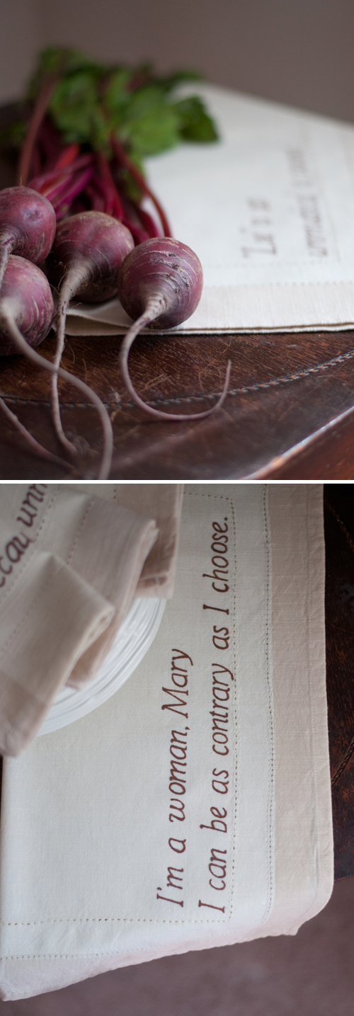 DIY: Downton Abbey Napkins