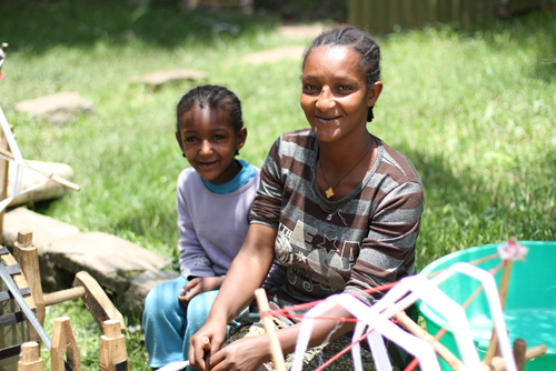 Genet and her daughter, of fashionABLE in Ethiopia