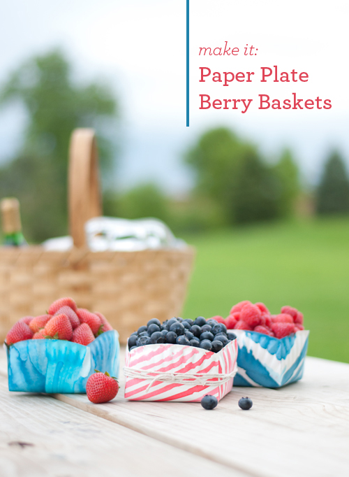 DIY: Paper Plate Berry Boxes. Easy and food safe!
